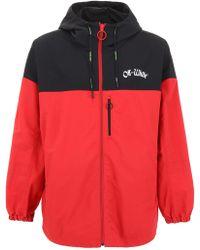 Off-White c/o Virgil Abloh Red Polyamide Outerwear Jacket