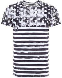 Balmain - Flag Print T-shirt - Lyst