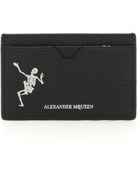 Alexander McQueen - Skeleton Print Leather Cardholder - Lyst