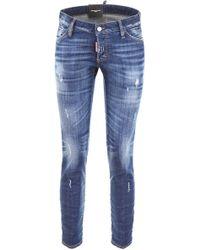 DSquared² - Cropped Jennifer Jeans - Lyst