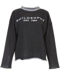 Philosophy - Lurex Logo Sweatshirt - Lyst