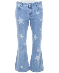 Stella McCartney - Kick Flare Jeans With Stars - Lyst