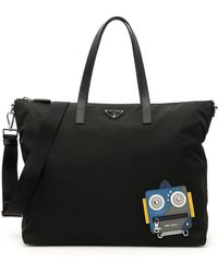 Prada - Robot Nylon Tote Bag - Lyst