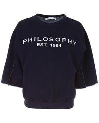 Philosophy - Sweatshirt With Glitter Print - Lyst