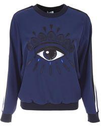 KENZO - Sweatshirt With Embroidered Eye - Lyst