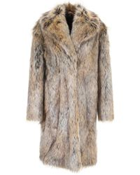 Philosophy - Faux Fur Coat - Lyst