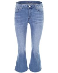 MICHAEL Michael Kors - Cropped Jeans With Fringes - Lyst