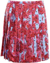 Versace - Printed Silk Skirt - Lyst
