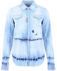 DSquared² Denim Western Shirt - Blue