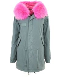 Mr & Mrs Italy - Midi Parka With Fur - Lyst