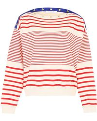 Philosophy - Striped Top With Printed Logo - Lyst