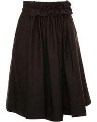 Lanvin - Cotton Voile Midi Full Skirt - Lyst