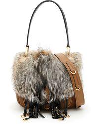 Prada - Corsaire Bag With Fur - Lyst