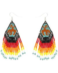 Jessie Western Rh Earrings - Orange