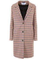 Closed - Check Coat - Lyst