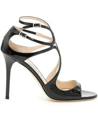 Jimmy Choo - Leather Lance Sandals 115 - Lyst