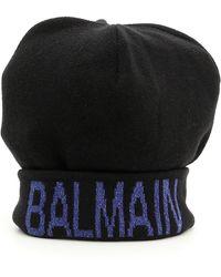 Balmain Cappello maglia logo - Nero