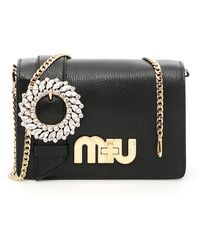 Miu Miu - Madras Miu Logo Bag - Lyst