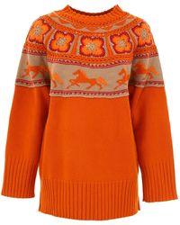 Alberta Ferretti - Crochet Knit Jumper - Lyst