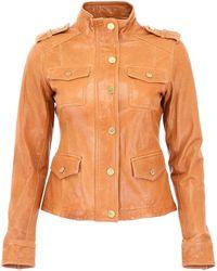 MICHAEL Michael Kors - Leather Jacket - Lyst