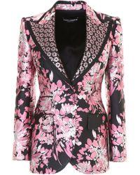Dolce & Gabbana - Floral Brocade Jacket - Lyst