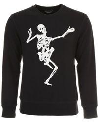 Alexander McQueen - Dancing Skeleton Embroidered Sweatshirt - Lyst