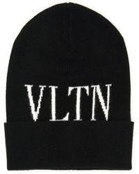 Valentino - Cappello vltn in maglia - Lyst