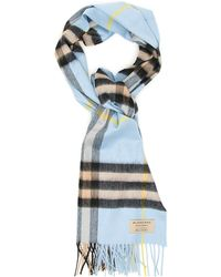 bf2e8419c36 Burberry Wool-Cashmere Giant Check Crinkle Scarf In Camel in Natural ...