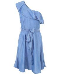 MICHAEL Michael Kors - Ruffled One-shoulder Dress - Lyst