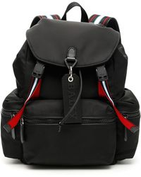 e77ac05c9 Bally Pebbled Leather Backpack in Red for Men - Lyst