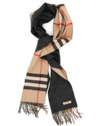 Burberry - Reversible Check Scarf - Lyst