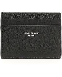 Saint Laurent Grained Leather Card Holder