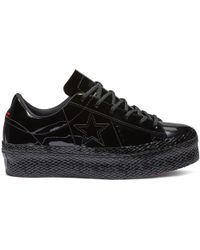 9446703433b7 Converse - One Star Platform Patented  90s Faux Leather Low Top - Lyst