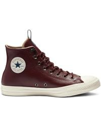 b62a2c65cf58 Converse Desert driftwood Ct All Star Leather Hi Trainers in Natural ...