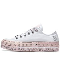 Converse - X Miley Cyrus Chuck Taylor All Star Lift Low Top Women's Shoe - Lyst