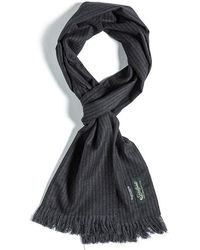 Eastlogue - Scarf- Navy & Charcoal Stripe - Lyst