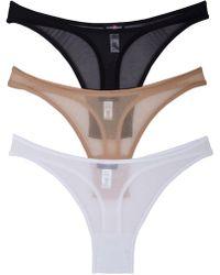 Cosabella - New Soire Sheer Hi-rise Thong Basic Pack - Lyst