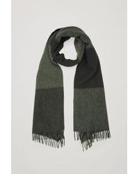 COS - Check Wool-cashmere Scarf - Lyst