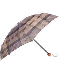 Barbour - Tartan Ladies Handbag Umbrella - Lyst