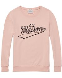 Maison Scotch Crew Neck Graphic Womens Sweat