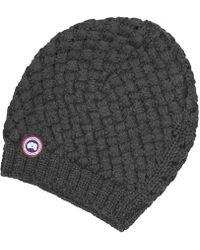 Canada Goose - Basket Weave Slouchy Ladies Hat - Lyst