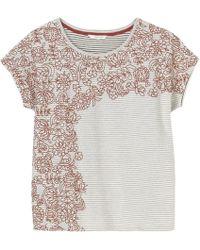 White Stuff - Stripe Swirl Womens Jersey Tee - Lyst