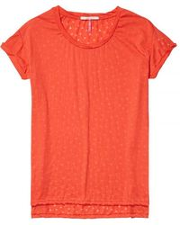 Maison Scotch - Relaxed Fit Short Sleeve Burnout Womens Tee - Lyst