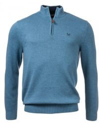Crew - Classic Half Zip Knitted Mens Sweater - Lyst