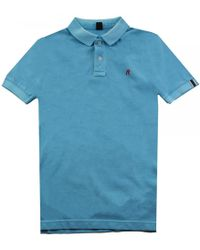 Replay - Garment Dyed Pique Mens Polo Shirt - Lyst