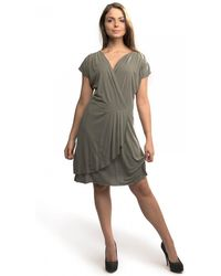 Great Plains - So Peachy V Neck Drape Womens Dress - Lyst