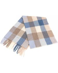 GANT - Multicheck Lambswool Womens Scarf - Lyst