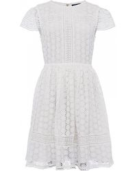 French Connection - Parker Lace Ss Fit N Flair Dress - Lyst