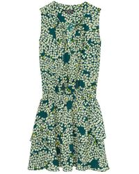 Maison Scotch - Silky Feel Sleeveless Printed Womens Summer Dress - Lyst