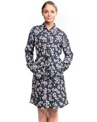French Connection - Eva Crepe 3/4 Sleeve Shirt Womens Dress - Lyst